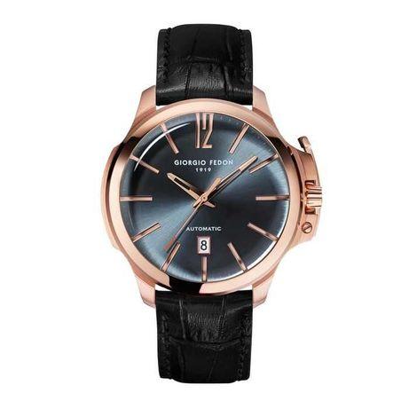 Giorgio Fedon Timeless VI Men's Automatic Watch Black Rose Gold