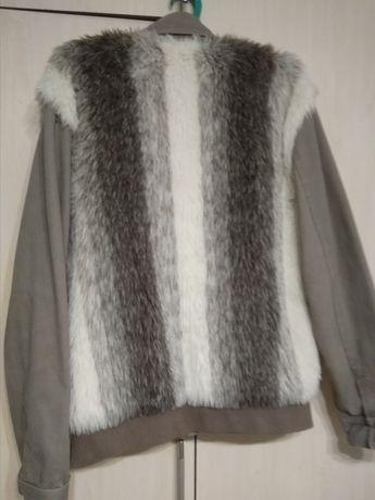 Куртка с мехом, джинсовка
