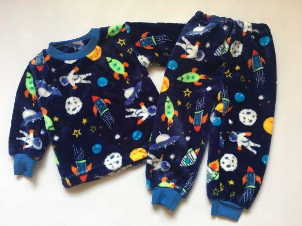 Пижама теплая махровая космос для мальчика
