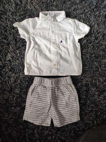 Elegancki zestaw koszula i spodenki r 62