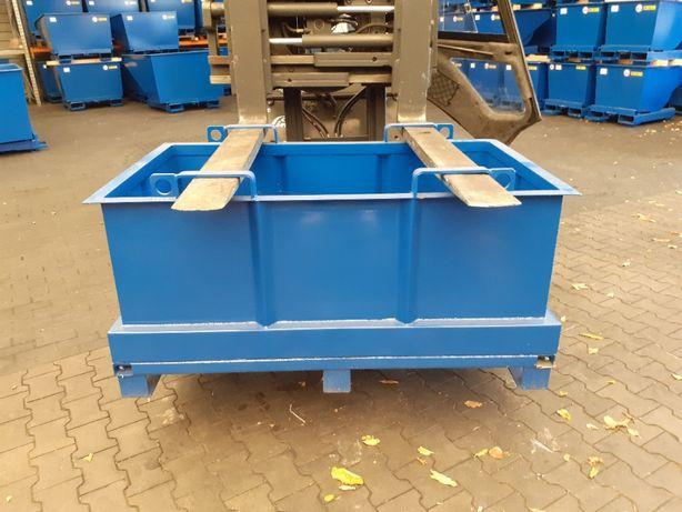 Skrzynia metalowa kontener z otwieranym dnem pojemnik 600l od ręki