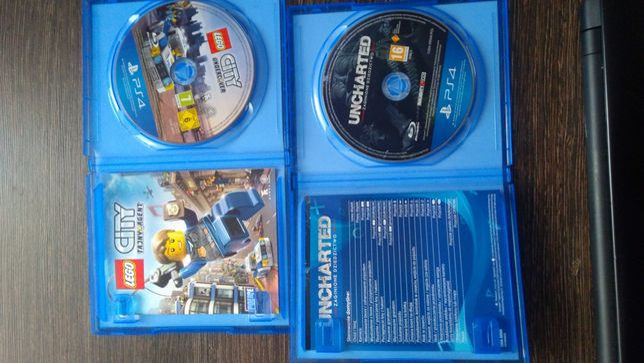 Gry PS4 LEGO city tajny agent i uncharted zaginione dziedzictwo