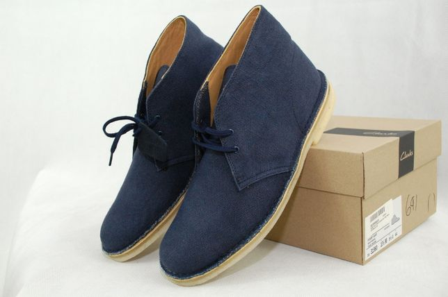 44 р, CLARKS FABRIC мужские дезерты ботинки туфли оригинал США, ecco