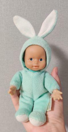 Пупс зайчик пупсик кукла малыш плюшевый с ушками антистресс