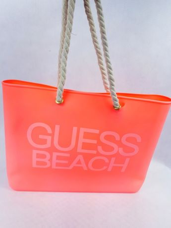Nowa torebka guess beach pomarańczowa neon