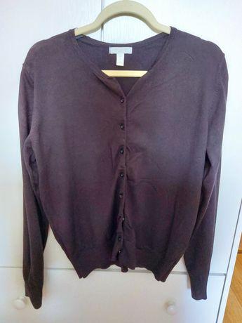 Czarny sweter kardigan hm L