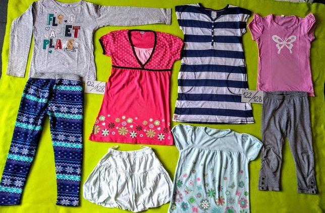 Ubranka rozm 122/128 dziewczęce z sukienkami