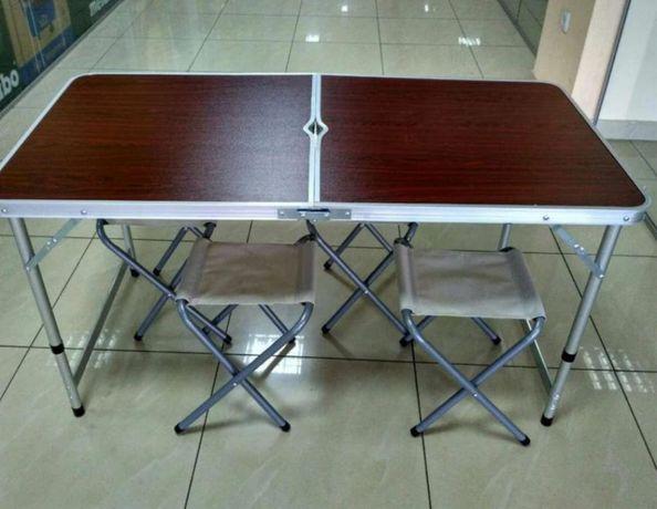 Походный стол складной в комплекте стулья новые