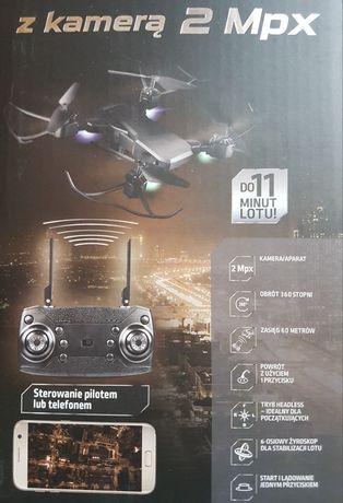 Dron z kamerą 2 Mpx  sterowanie pilotem lub telefonem NOWY! Gwarancja!