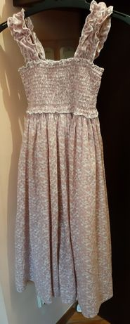 Sukienka pomp de Lux roxm.122/128 w kwiaty bawełniana