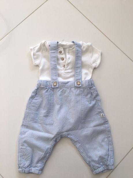 Komplecik niemowlęcy H&M r. 62 mały chłopczyk