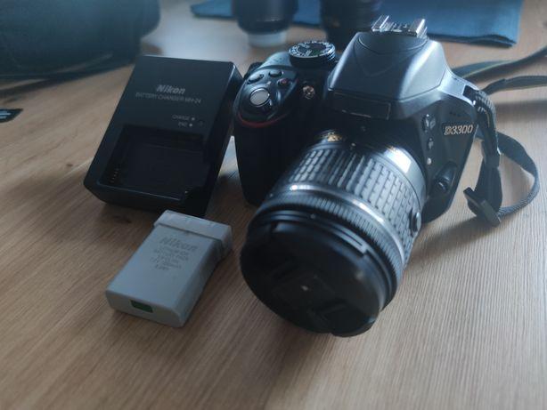 Aparat Nikon D3300 z obiektywem AF-P Nikkor 18-55mm
