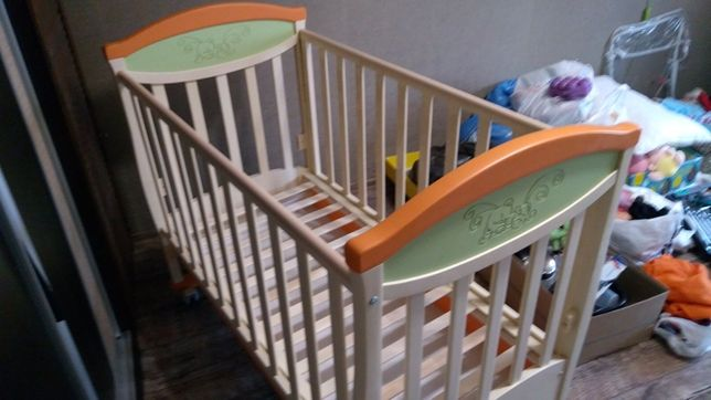 Детская кроватка-качалка Верес, кокосовый матрас в подарок