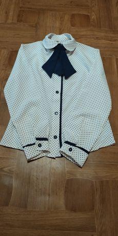 Шкільна гарна блуза(блузка) на дівчинку!