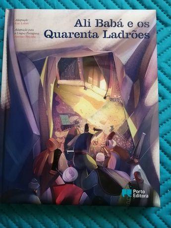Livro infantil o Ali Baba e os quarenta ladrões