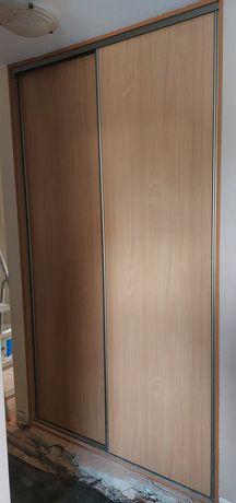 Zestaw drzwi przesuwnych (front szafy) z obramowaniem do wnęki