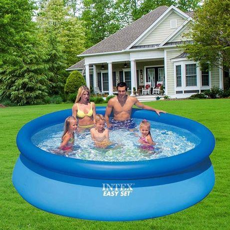 Бассейн надувной семейный Intex 28122NP Easy Set 305-76 см, объем3853л