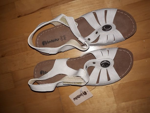 Sandały r. 41 Inblu skóra NOWE wkł 24,5cm buty