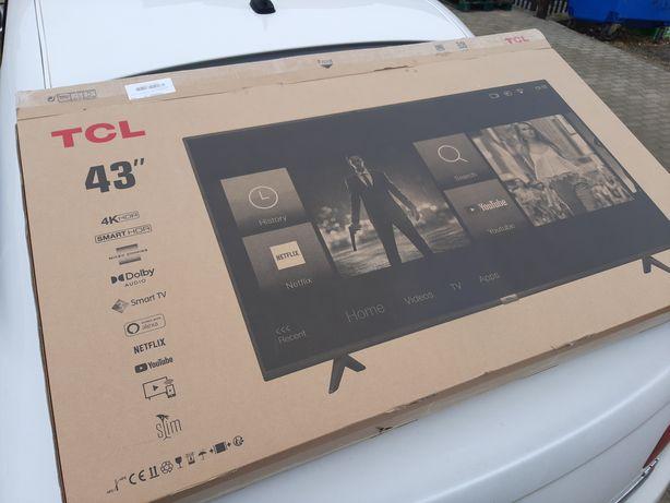 "Telewizor TCL 43"" Gwarancja Nowy 43P610 4K UHD HDR DOLBY DIGITAL PLUS"