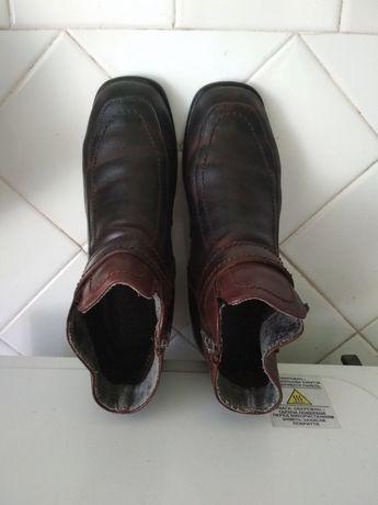 Ботинки кожаные женские.