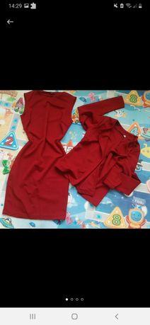 Комплект 2в1 платье футляр и пиджак