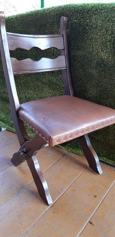 Krzesła holenderskie dębowe ekoskóra
