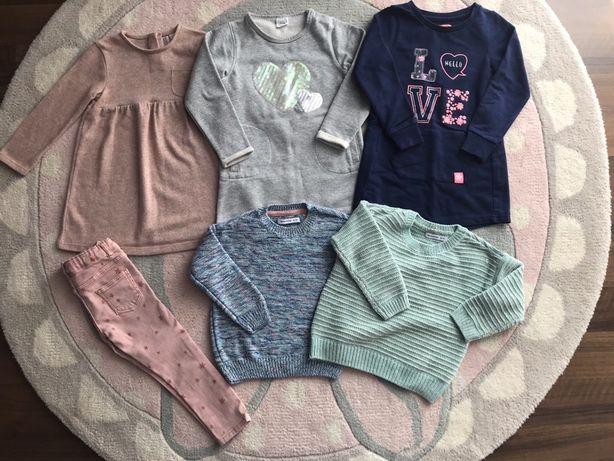 Paka zestaw sukienki swetry jeansy Zara Reserved Cool Club roz. 98