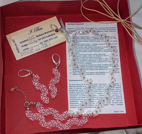 Biżuteria (ślubna) Swarovski kolczyki/naszyjnik