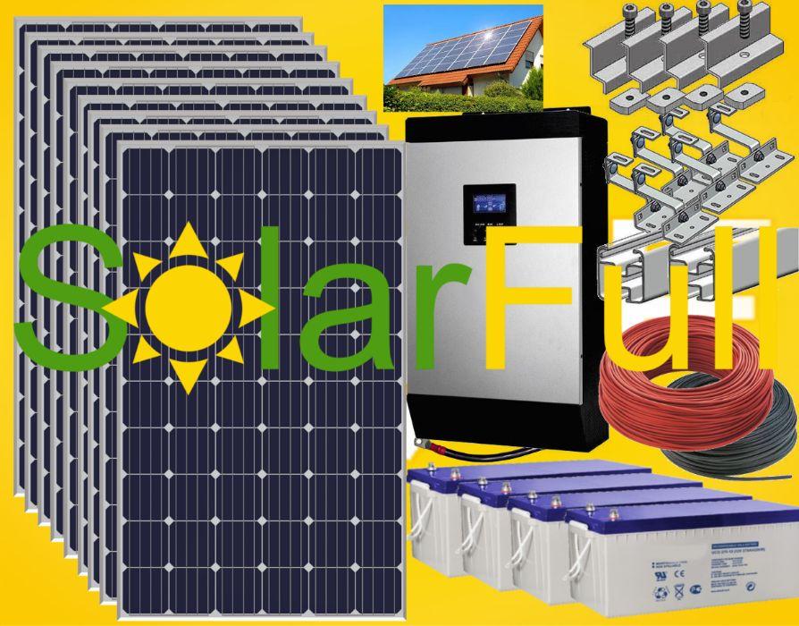 Kit – 5 Kwh habitação painel solar fotovoltaico pico 10kw Prod. 3400w Leiria - imagem 1