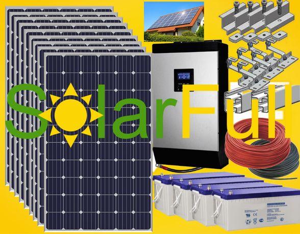 Kit – 5 Kwh habitação painel solar fotovoltaico pico 10kw Prod. 3400w