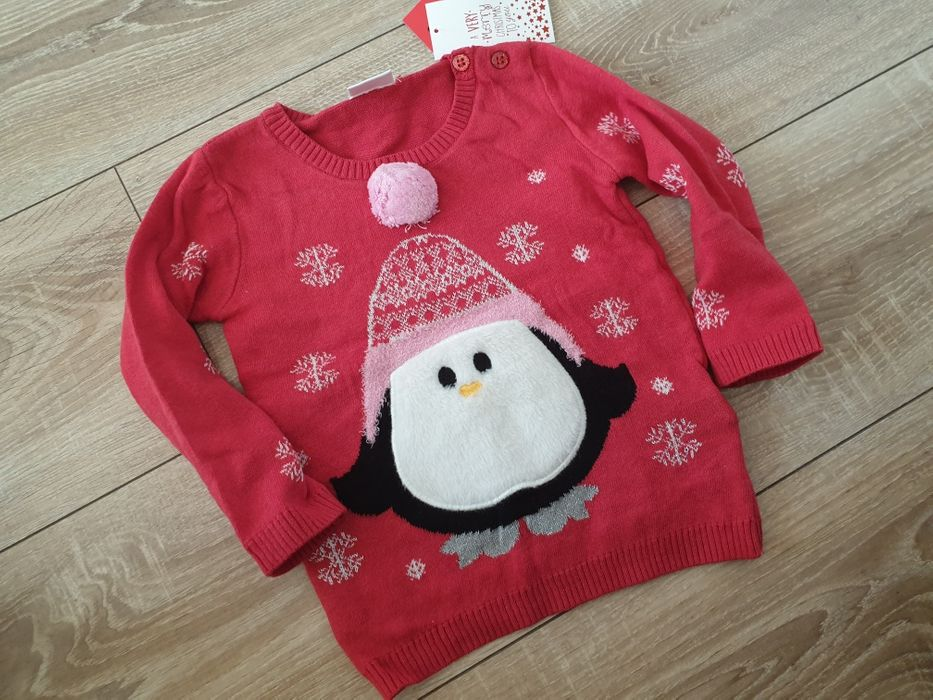F&F nowy sweterek świąteczny r.80cm Malbork - image 1