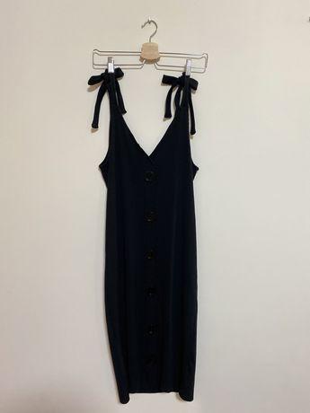 ZARA | Vestido Comprido Sem Mangas Preto