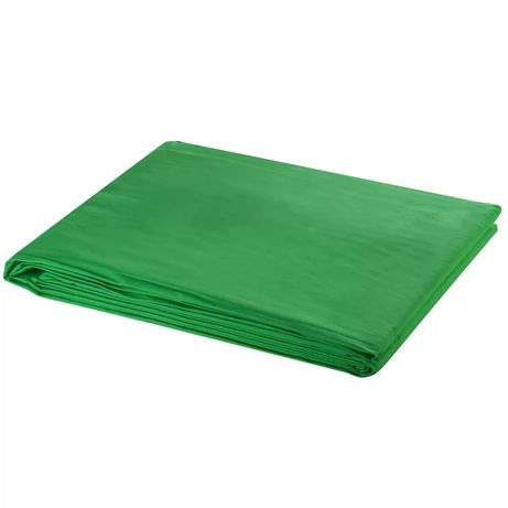 vidaXL Fundo fotográfico em algodão verde 600x300 cm chroma key 190008