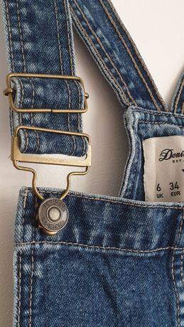 Sukienka ogrodniczka mini DenimCo jeans