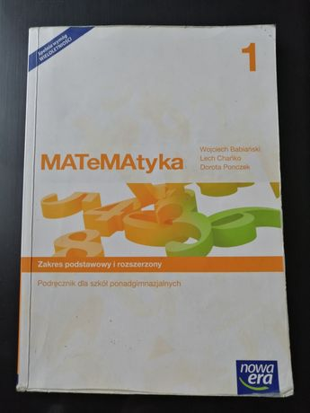 Książka do matematyki 1-Nowa era