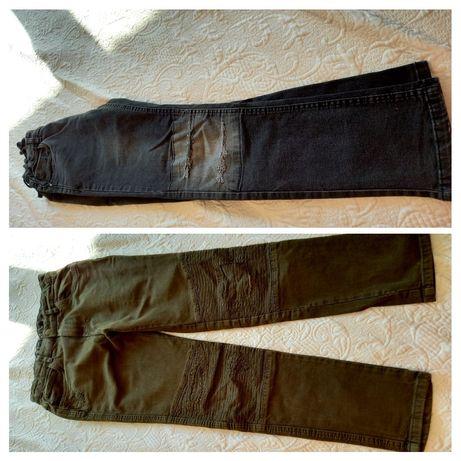 Dwie pary spodni jeans 164