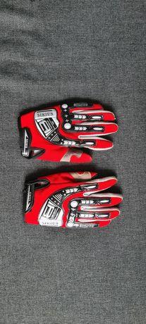 Rękawiczki motocyklowe czerwone