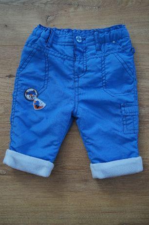 Ubranka zimowe dla chłopca 56 62 spodnie, śpiochy, buciki niechodki