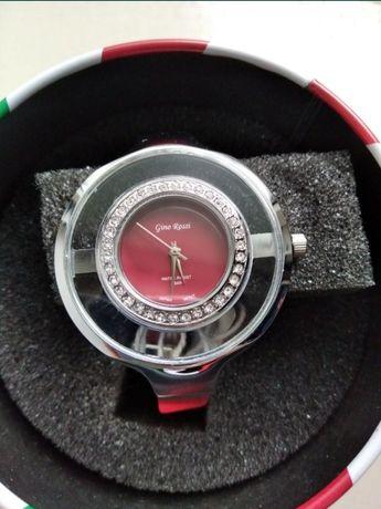 Czerwony damski zegarek z cyrkoniami Gino Rossi