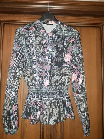 MOHITO śliczna bluzka baskinka we wzory j. NOWA 38 M
