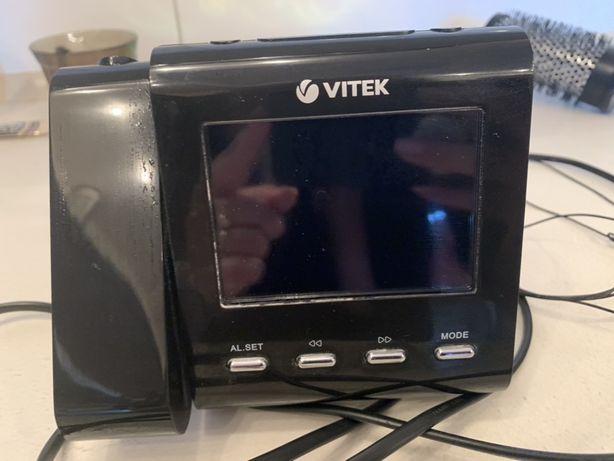 Радио приемник часы музыкальный радіо приймач витек vitek
