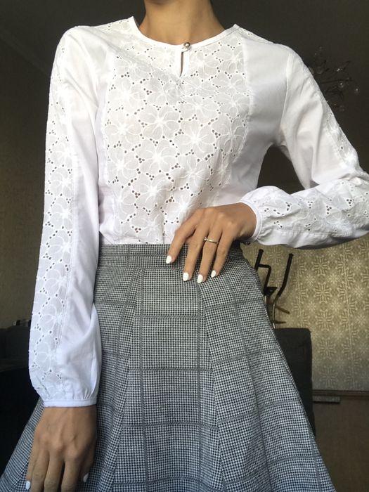 Белая блуза с вставками,новая! Черкассы - изображение 1