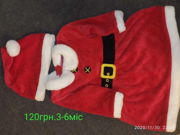Костюмчик новорічний,новий рік ,дід мороз,сукня новорічна