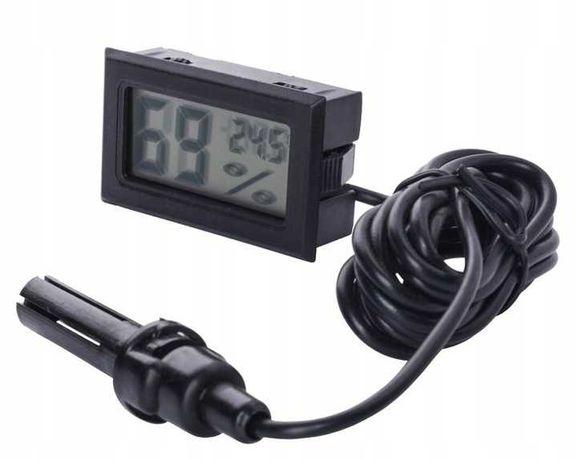 Termometr Cyfrowy Higrometr Elektroniczny z sondą Baterie w zestawie