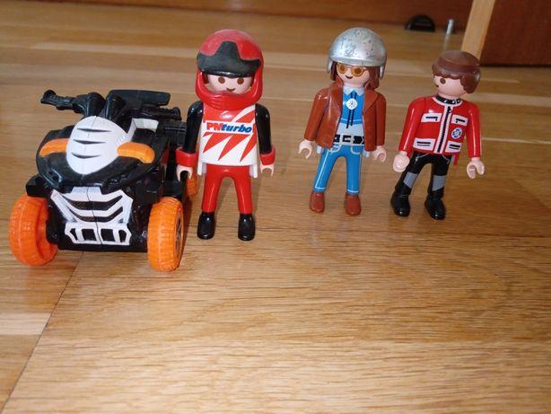 Playmobil - conjunto 3 boneco +1 mota