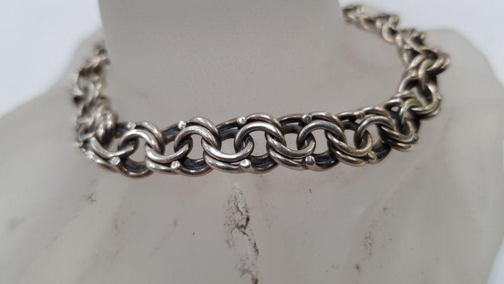 Piękna srebrna bransoletka! Srebro 925/ 17.8 gram/ 19cm/ sklep Gdynia Gdynia - image 1