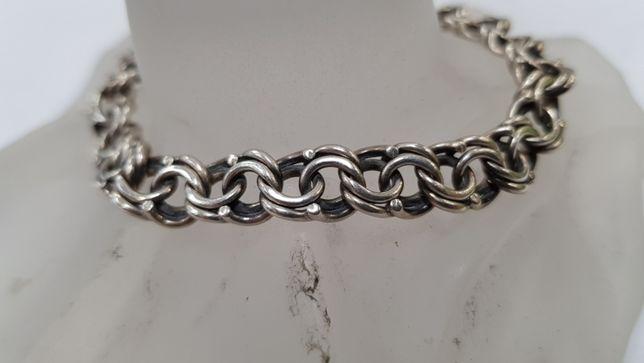 Piękna srebrna bransoletka! Srebro 925/ 17.8 gram/ 19cm/ sklep Gdynia