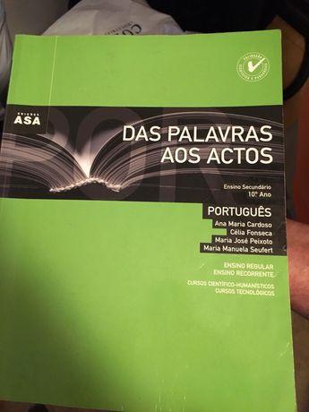 Das palavras aos actos livro português secundário
