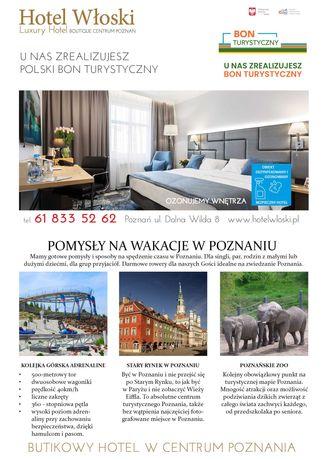 Hotel Włoski Poznań Centrum Bon Turystyczny, idealny dla rodzin