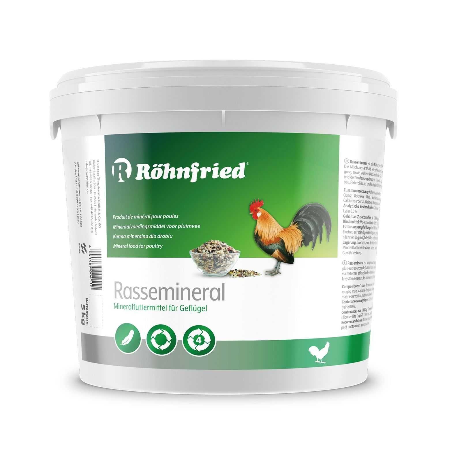 Röhnfried Rasse Mineral für Rassegeflügel 5 kg-drób hodowlany